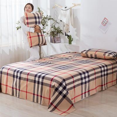 2020新款无印风全棉色织水洗棉单品枕套(48*74cm/对) 48cmX74cm/对 百丽格--咖