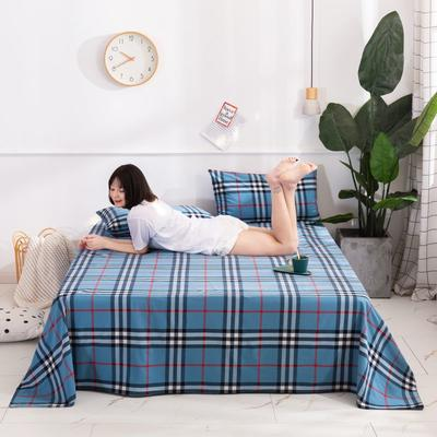 2020新款无印风全棉色织水洗棉单品枕套(48*74cm/对) 48cmX74cm/对 百丽格--蓝