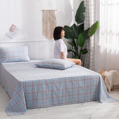 2020新款无印风全棉色织水洗棉单品枕套(48*74cm/对) 48cmX74cm/对 理想生活-兰