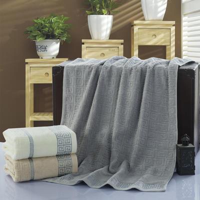 长城格浴巾 灰色70*140