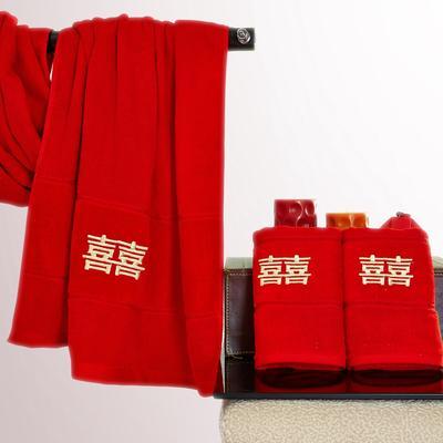 双喜临门套巾 红色