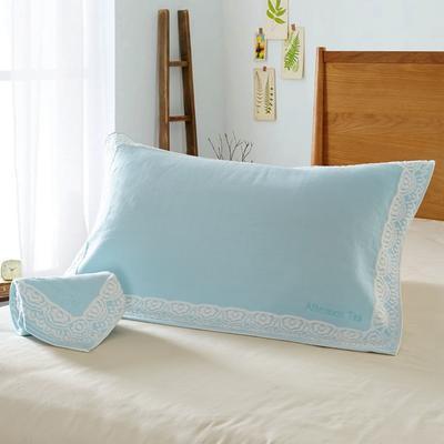 欧式花枕巾 灰色