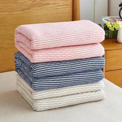 水洗纱布毯映波尔曼毛巾被 200cmx230cm 浅灰