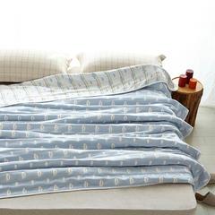 【微】六层纱布毛巾被--云朵 120cmX150cm 云朵 蓝色