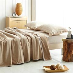 朴素之美毛巾被 150cmX200cm 驼色