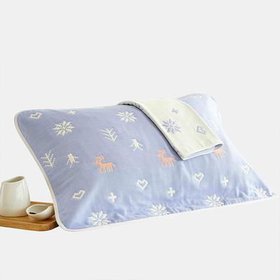 花样六层枕巾 小鹿蓝
