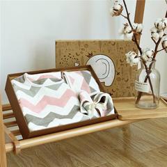 六层纱布礼盒 1条方巾+1条围嘴+1件睡袋+1条童被 日式水纹粉