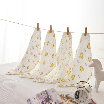 皱皱纱印花童巾-礼盒装 盒装花型随机