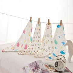 皱皱纱印花童巾-礼盒装 组合四:小蘑菇+彩云+胖熊猫+蓝鲸鱼