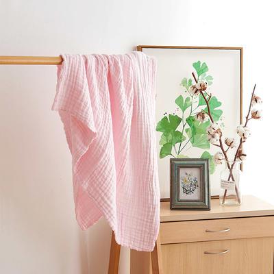 皱皱纱纯色童被 105cm*110cm 粉色
