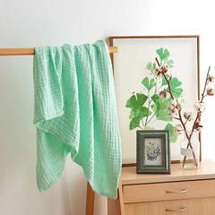 皱皱纱纯色童被 105cm*110cm 绿色