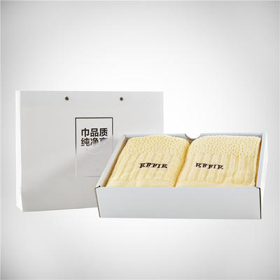 百花毛巾包装(20个起订) 百花毛巾产品礼盒包装 白色诱惑毛巾双条装