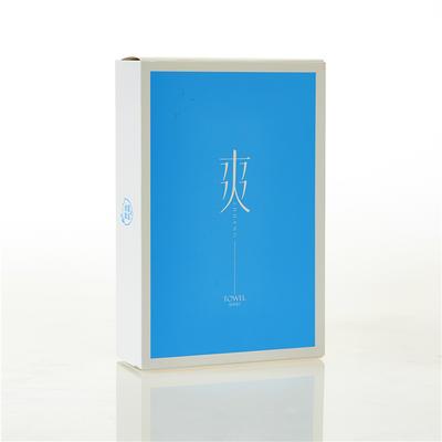 百花毛巾包装 百花毛巾产品礼盒包装 爽字单条毛巾礼盒(蓝色)
