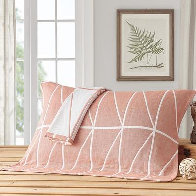 三角函数枕巾 浅橘色