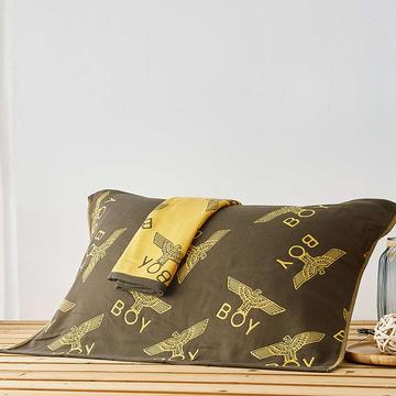 三层纱布枕巾