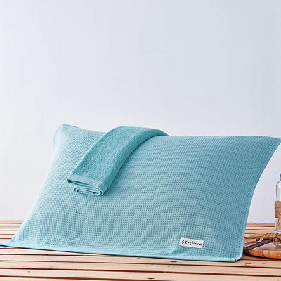 依然枕巾 浅蓝