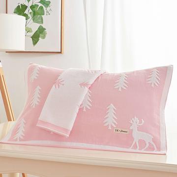圣诞鹿枕巾