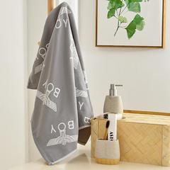 三层纱布浴巾 飞鹰灰色