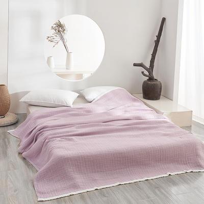 三层水洗秋田纱布毯 190cmX230cm 浅紫