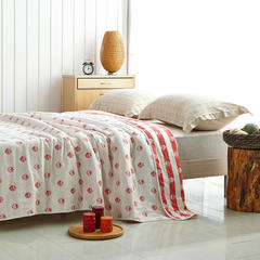 六层纱布毯  爆款花型很多 200cmx240cm 草莓