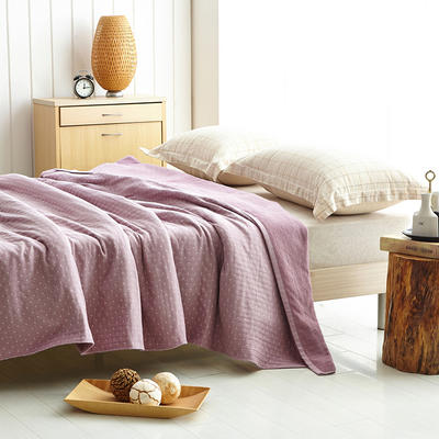 AB纱布毯  简约日式 150cmX200cm 浅紫