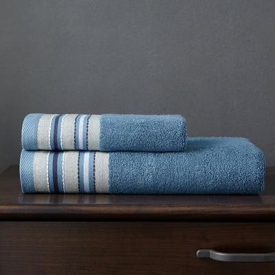 竹纤维宽段毛巾 深砖石蓝