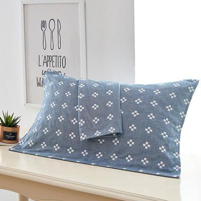 一畝花田枕巾 深藍