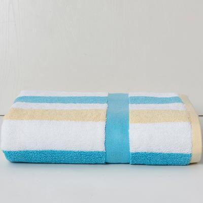 條紋之旅加大浴巾90*180 黃條