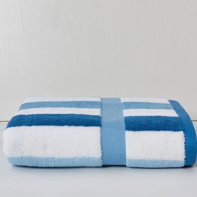 条纹之旅浴巾 蓝条