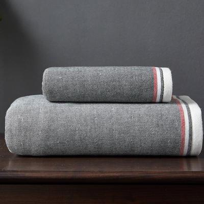 英倫風尚浴巾 灰色