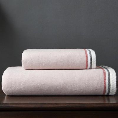 英伦风尚浴巾 粉色