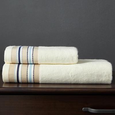 竹纤维宽段浴巾 乳黄