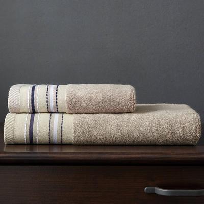 竹纤维宽段浴巾 中棕