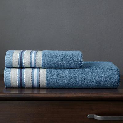竹纤维宽段浴巾 深砖石蓝
