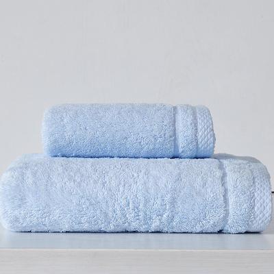 素色记忆毛巾 天蓝色
