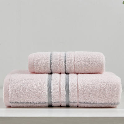 井田套巾 两毛一浴 粉色