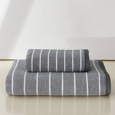 良品生活套巾两毛一浴 灰色