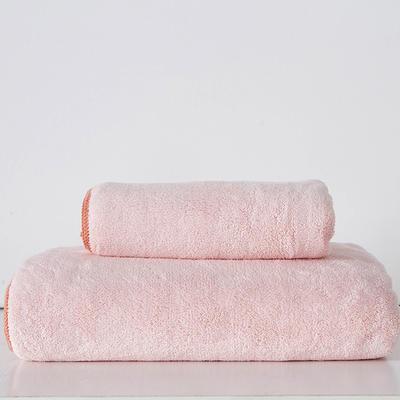 纳米套巾 两毛一浴 奶粉色