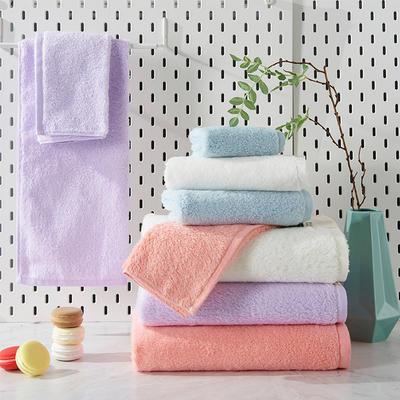 新棉花糖套巾一方一毛一浴 粉色