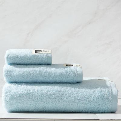 新棉花糖套巾一方一毛一浴 蓝色