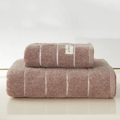 伊洛套巾两毛一浴 棕色