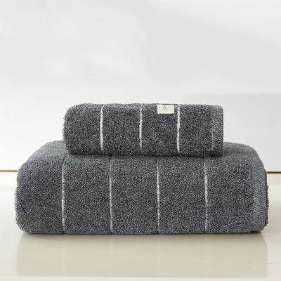 伊洛套巾两毛一浴 深灰色