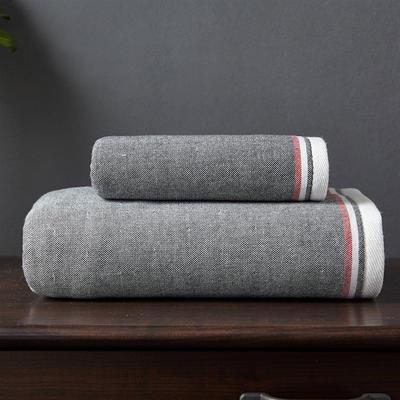 英伦风尚套巾 两毛一浴 灰色