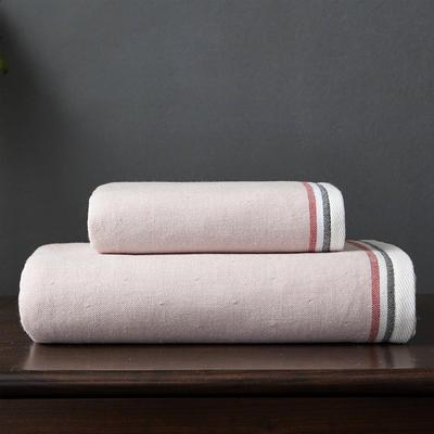 英伦风尚套巾 两毛一浴 粉色