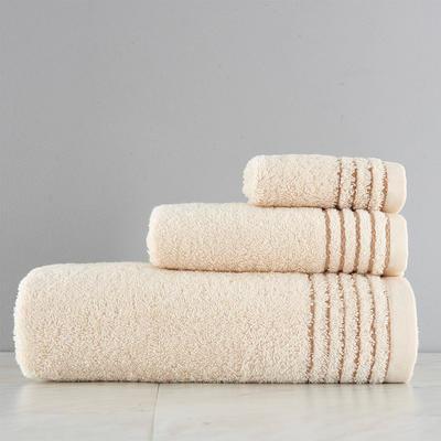 有机棉套巾一方一毛一浴 米色