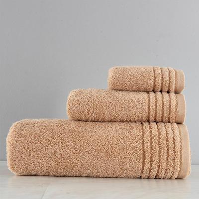 有机棉套巾一方一毛一浴 棕色