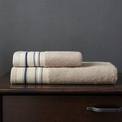 竹纤维宽段套巾两毛一浴 中棕
