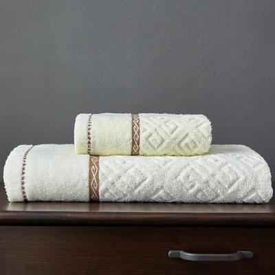 四宫格自由组合 浴巾米白