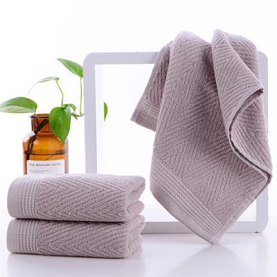 2019新款水纹毛巾34*72 浅驼