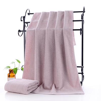 2019新款水纹浴巾70*140 浅驼